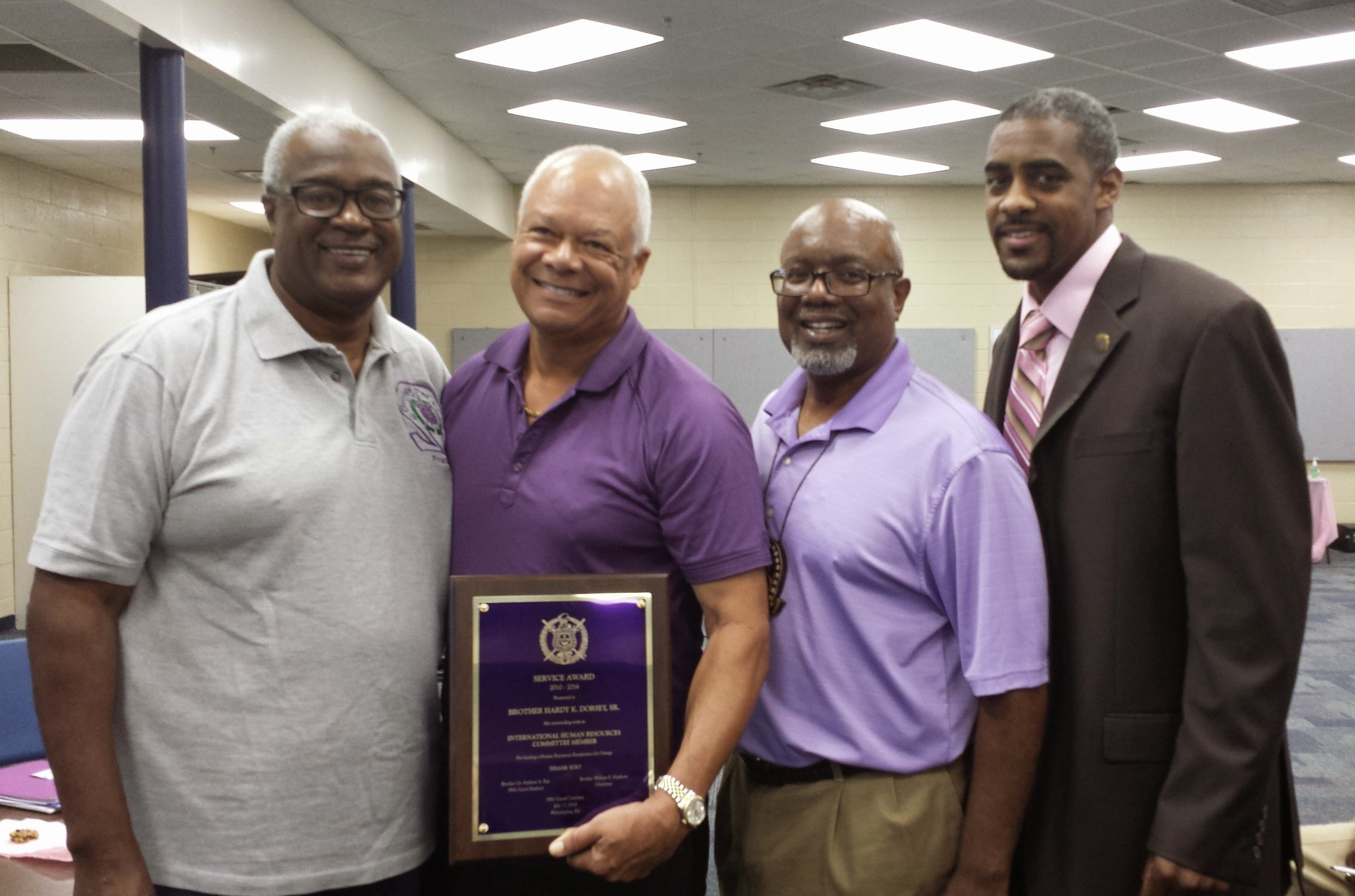 Hardy Dorsey - IHQ Human Resource Service Award